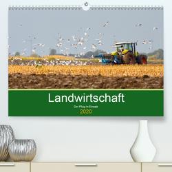 Landwirtschaft – Der Pflug im Einsatz (Premium, hochwertiger DIN A2 Wandkalender 2020, Kunstdruck in Hochglanz) von Poetsch,  Rolf