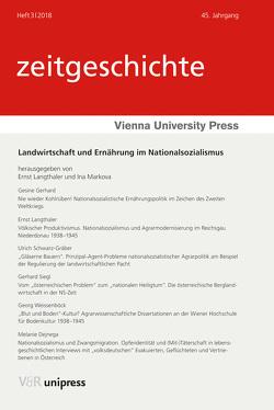 Landwirtschaft und Ernährung im Nationalsozialismus von Langthaler,  Ernst, Markova,  Ina, Rathkolb,  Oliver