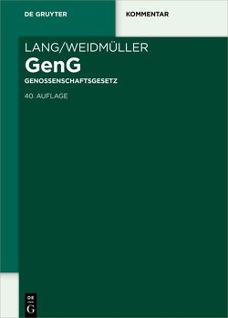 Lang/Weidmüller Genossenschaftsgesetz von Holthaus,  Jan, Lang,  Johann, Lehnhoff,  Dirk, Weidmüller,  Ludwig