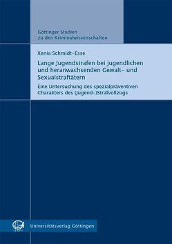 Lange Jugendstrafen bei jugendlichen und heranwachsenden Gewalt- und Sexualstraftätern von Schmidt-Esse,  Xenia
