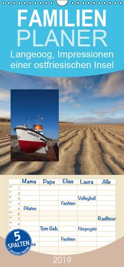 Langeoog, Impressionen einer ostfriesischen Insel – Familienplaner hoch (Wandkalender 2019 , 21 cm x 45 cm, hoch) von Roskamp,  Jan