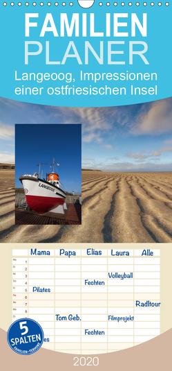 Langeoog, Impressionen einer ostfriesischen Insel – Familienplaner hoch (Wandkalender 2020 , 21 cm x 45 cm, hoch) von Roskamp,  Jan