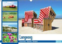 Langeoog – Sommer, Sonne, Strand (Wandkalender 2019 DIN A3 quer) von Schwarze,  Nina