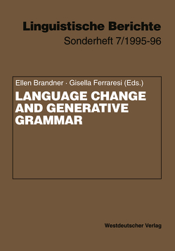 Language Change and Generative Grammar von Brandner,  Ellen, Ferraresi,  Gisella