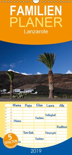 Lanzarote – Familienplaner hoch (Wandkalender 2019 , 21 cm x 45 cm, hoch) von Ergler,  Anja