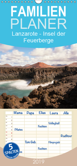 Lanzarote – Insel der Feuerberge – Familienplaner hoch (Wandkalender 2019 , 21 cm x 45 cm, hoch) von Beuck,  AJ