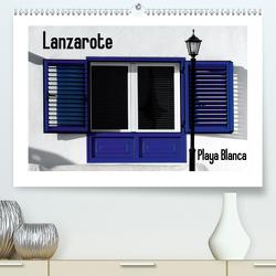 Lanzarote – Playa Blanca (Premium, hochwertiger DIN A2 Wandkalender 2021, Kunstdruck in Hochglanz) von M. Laube,  Lucy