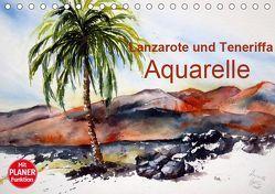 Lanzarote und Teneriffa – Aquarelle (Tischkalender 2019 DIN A5 quer) von Dürr,  Brigitte