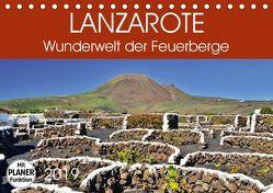 Lanzarote. Wunderwelt der Feuerberge (Tischkalender 2019 DIN A5 quer) von Heußlein,  Jutta