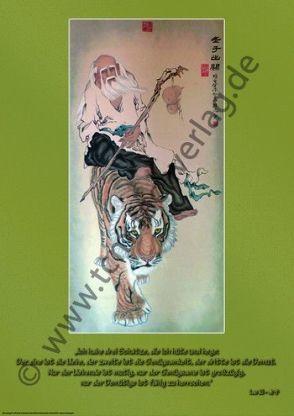 """Lao Zi auf dem Tiger reitend"" von Gui Yuan Tang – 桂元书"