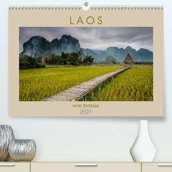 Laos – eine Bildreise (Premium, hochwertiger DIN A2 Wandkalender 2021, Kunstdruck in Hochglanz) von Rost,  Sebastian