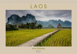 Laos – eine Bildreise (Tischkalender 2021 DIN A5 quer) von Rost,  Sebastian