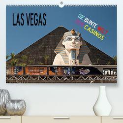 Las Vegas – Die bunte Welt der Casinos (Premium, hochwertiger DIN A2 Wandkalender 2020, Kunstdruck in Hochglanz) von Hallweger,  Christian