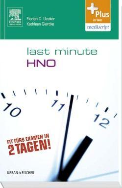 Last Minute HNO von Uecker,  Florian C., Uecker,  Kathleen