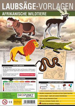 Laubsägevorlage Afrikanische Wildtiere