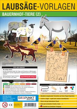 Laubsägevorlage Bauernhof-Tiere (2)