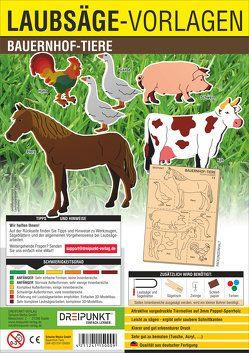 Laubsägevorlage Bauernhof-Tiere