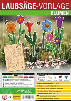 Laubsägevorlage Blumen