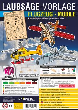 Laubsägevorlage Flugzeug (Mobile)