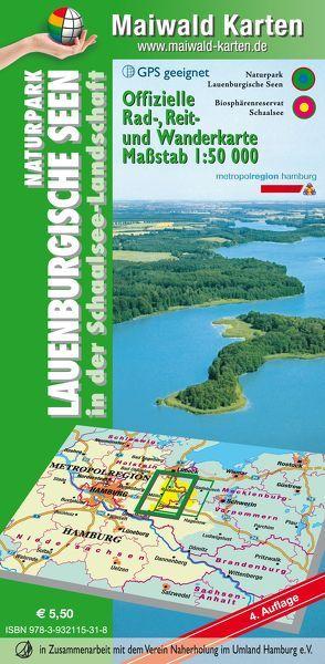 Lauenburg = Offizielle Rad-, Reit- u. Wanderkarte Naturpark Lauenburgische Seen in der Schaalsee-Landschaft von Maiwald,  Detlef sen. u. Björn jr.
