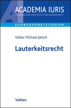 Lauterkeitsrecht von Jänich,  Volker Michael