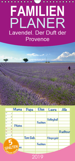 Lavendel. Der Duft der Provence – Familienplaner hoch (Wandkalender 2019 , 21 cm x 45 cm, hoch) von Werner,  Reinhard