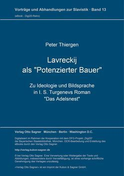 """Lavreckij als """"Potenzierter Bauer"""" von Thiergen,  Peter"""