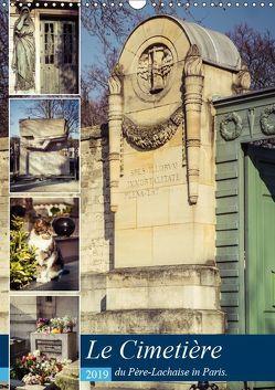 Le Cimetière du Père-Lachaise in Paris (Wandkalender 2019 DIN A3 hoch) von Creutzburg,  Jürgen