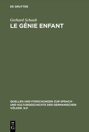 Le génie enfant von Schaub,  Gerhard