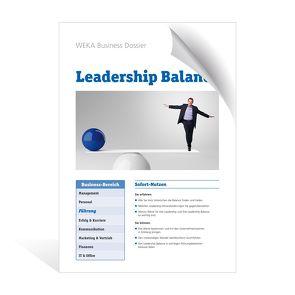 Leadership Balance von Miller,  Brigitte