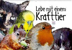 Lebe mit einem Krafttier voller Vertrauen (Wandkalender 2020 DIN A2 quer) von Ryzek,  Astrid