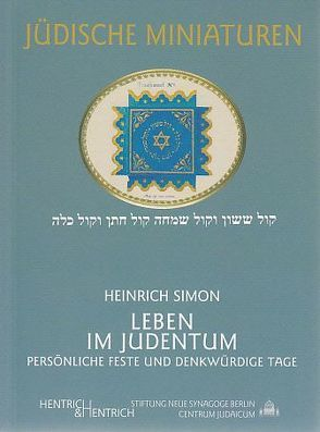 Leben im Judentum von Simon,  Heinrich