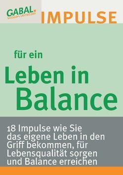 Leben in Balance von Reiter,  Hanspeter