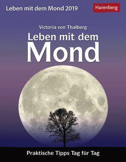 Leben mit dem Mond – Kalender 2019 von Harenberg, Thalberg,  Victoria von
