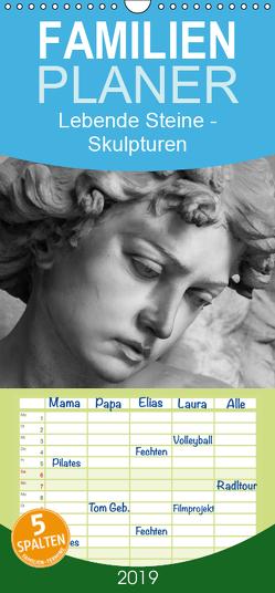 Lebende Steine – Skulpturen auf dem Friedhof Staglieno – Familienplaner hoch (Wandkalender 2019 , 21 cm x 45 cm, hoch) von Kügler,  Antje
