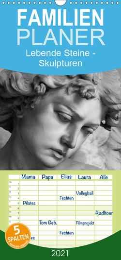 Lebende Steine – Skulpturen auf dem Friedhof Staglieno – Familienplaner hoch (Wandkalender 2021 , 21 cm x 45 cm, hoch) von Kügler,  Antje