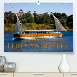 Lebensader Nil (Premium, hochwertiger DIN A2 Wandkalender 2021, Kunstdruck in Hochglanz) von happyroger