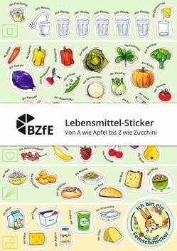 Lebensmittel-Sticker – Von A wie Apfel bis Z wie Zucchini von Brüggemann,  Ingrid