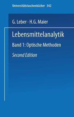 Lebensmittelanalytik von Leber,  G., Maier,  H.G.