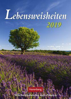 Lebensweisheiten – Kalender 2019 von Harenberg