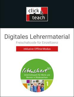 LebensWert – neu / LebensWert – neu click & teach 1 Box von Perraut-Wendland,  Stefanie, Peters,  Joerg, Peters,  Martina, Rolf,  Bernd