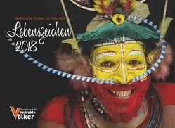 """Lebenszeichen 2018 """"Bedrohte Völker im Portrait"""" von Kopf,  Sabrina, Lobin,  Silvana, Papai,  Nadine"""