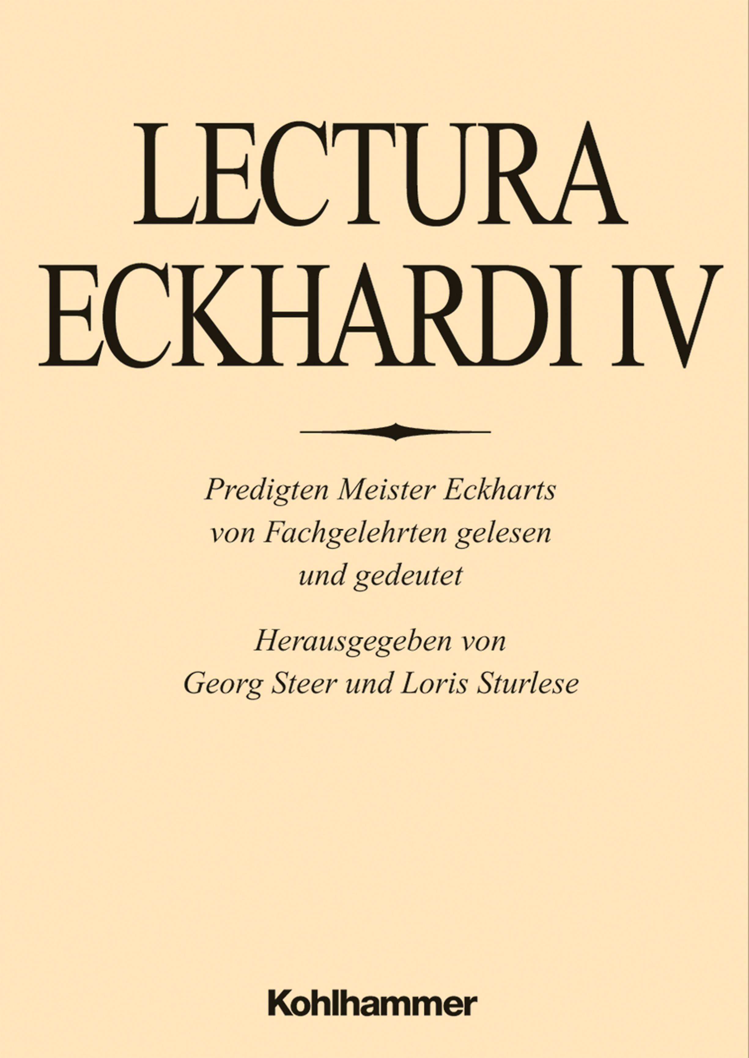 Lectura eckhardi lectura eckhardi iv von flasch kurt for Dietmar mieth