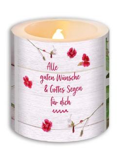 LED-Kerze »Alles Gute & Gottes Segen«