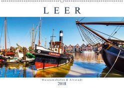 LEER Museumshafen und Altstadt (Wandkalender 2018 DIN A2 quer) von Dreegmeyer,  Andrea