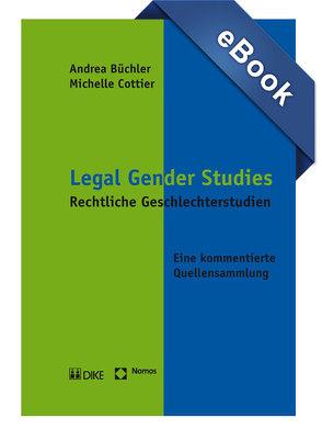 Legal Gender Studies von Büchler,  Andrea, Cottier,  Michelle