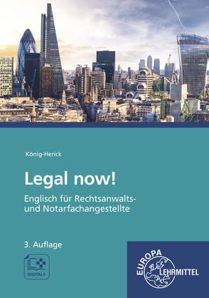 Legal now! von König-Herick,  Annette