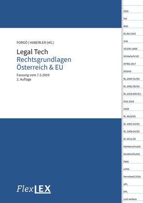 Legal Tech Rechtsgrundlagen Österreich & EU von Forgó,  Nikolaus, Haberler,  Veronika
