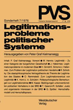 Legitimationsprobleme politischer Systeme von Kielmansegg,  Peter Graf