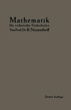 Lehrbuch der Mathematik von Neuendorff,  R.